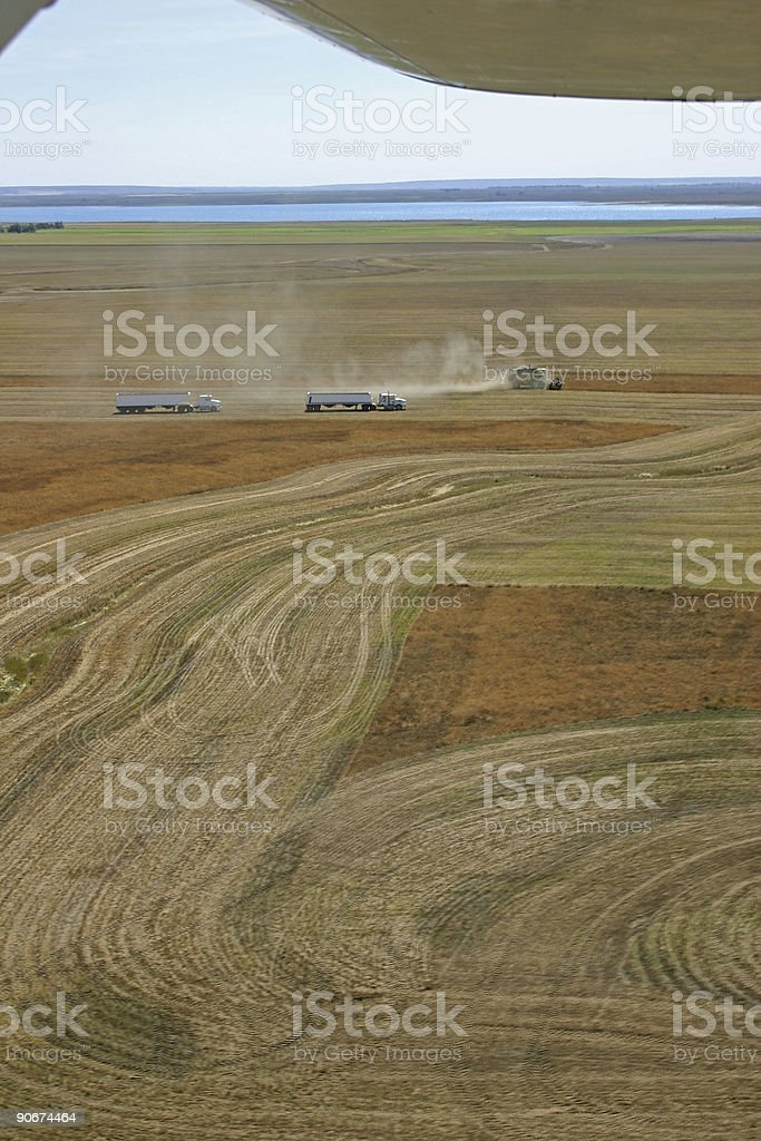 Harvest Aerial View royalty-free stock photo