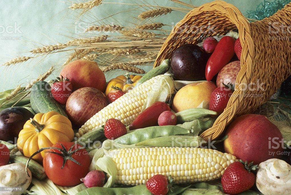 harvest cornucopia stock photo