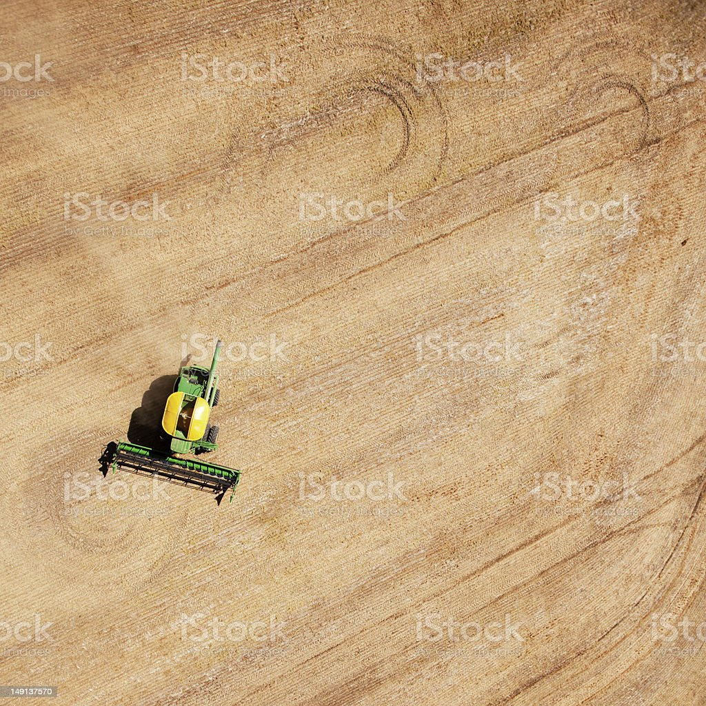 Harvest Field Patterns royalty-free stock photo