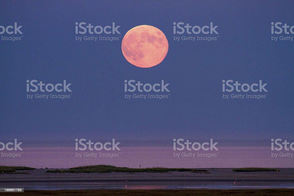 Harvest Moon October stock photo