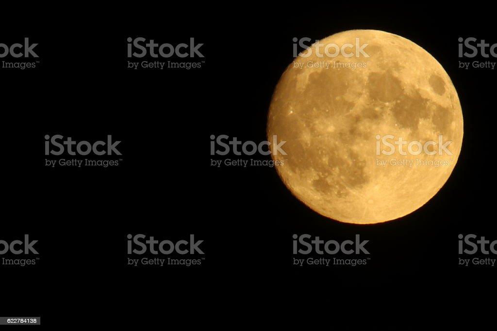 Harvest moon stock photo