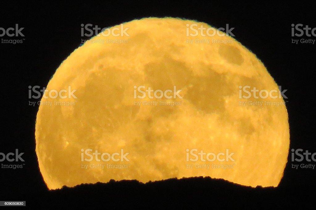 Harvest Moon Rising stock photo
