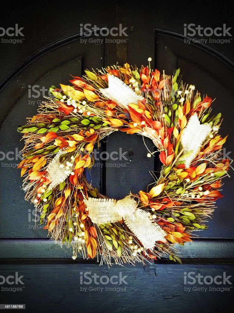 Harvest Wreath stock photo