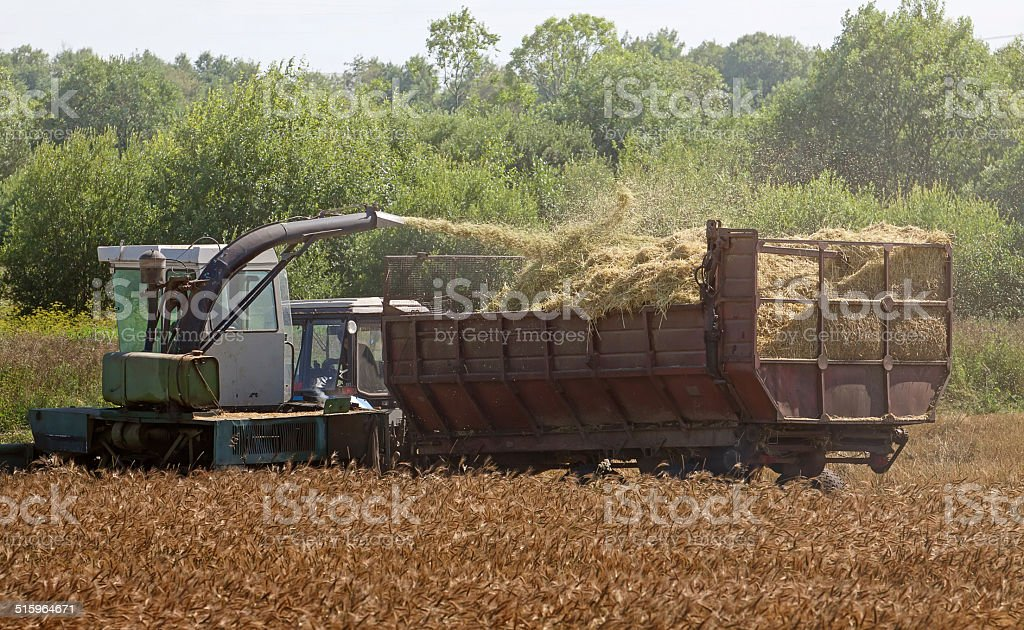 Harvester combine royalty-free stock photo