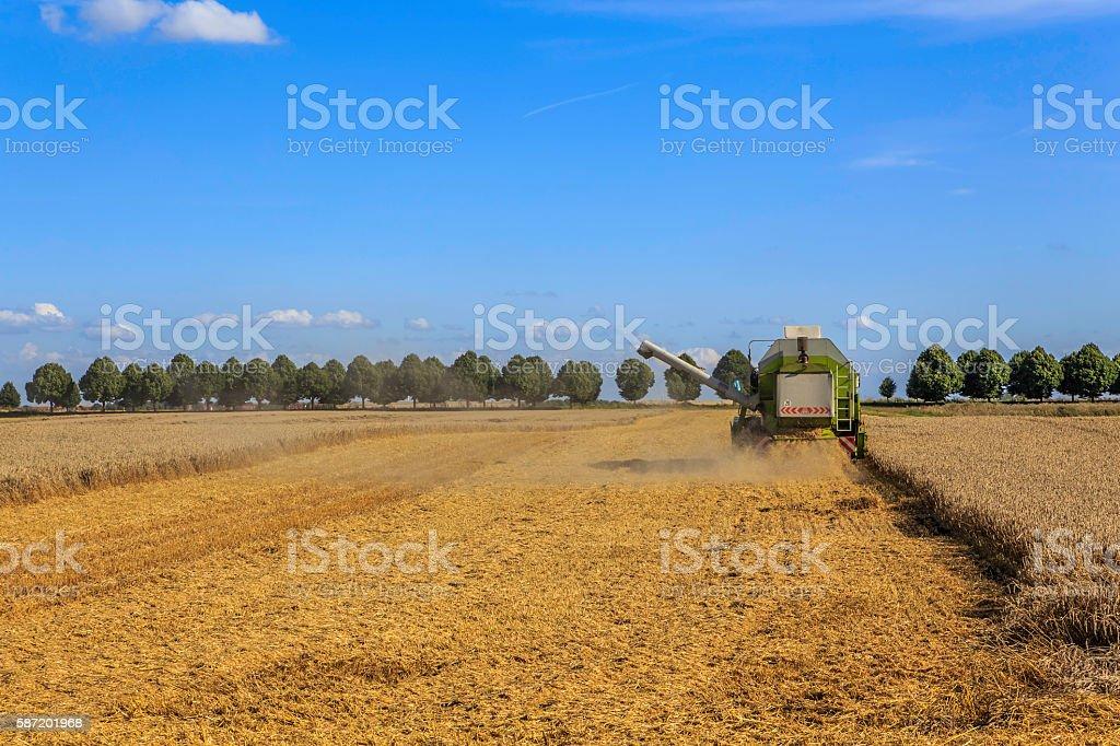harvester on work stock photo