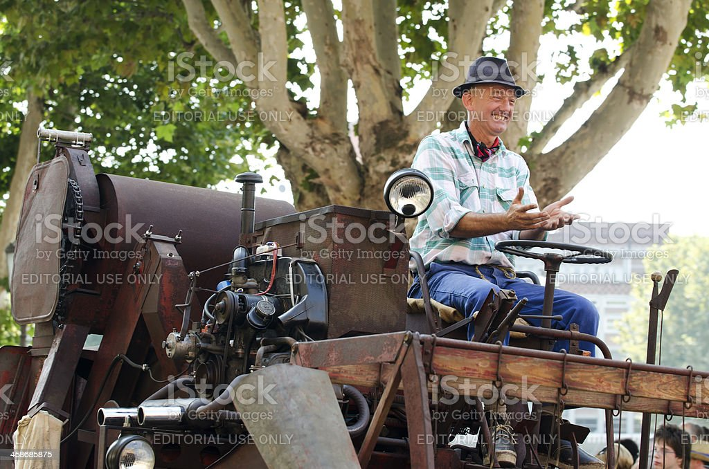 Harvester, Rural scene, agricultural machine, royalty-free stock photo