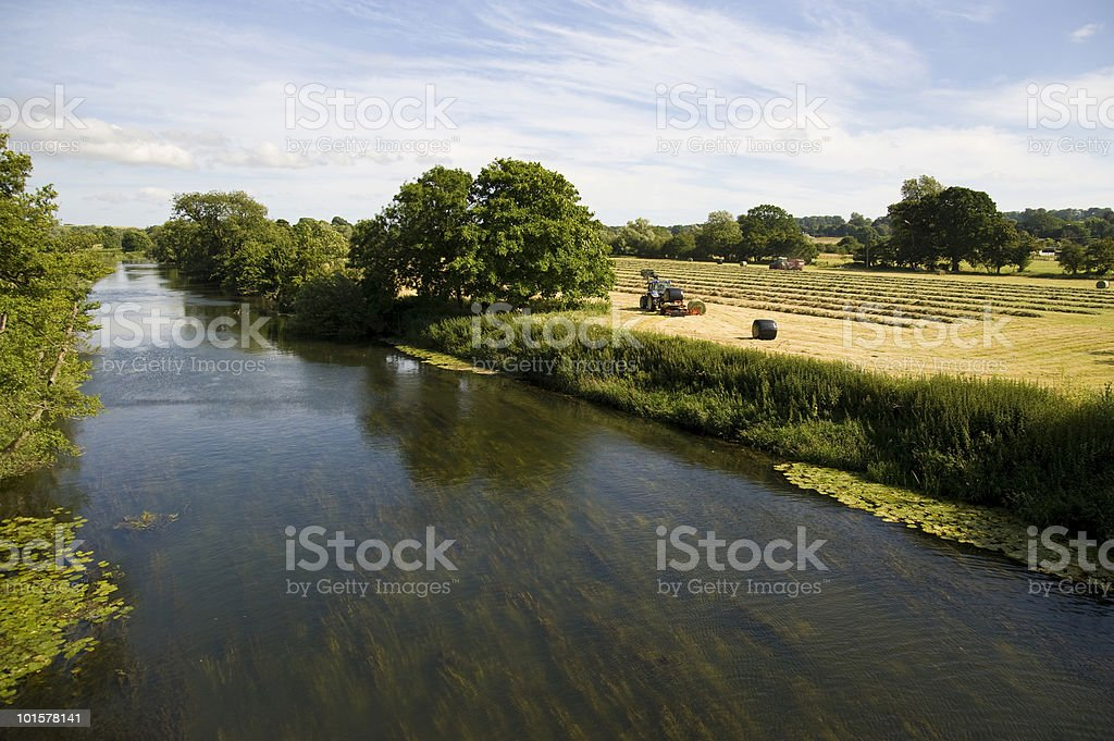 Harvesting in the English countryside royalty-free stock photo