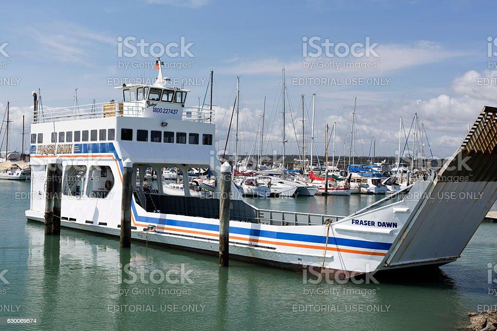 Harvey Bay Marina stock photo