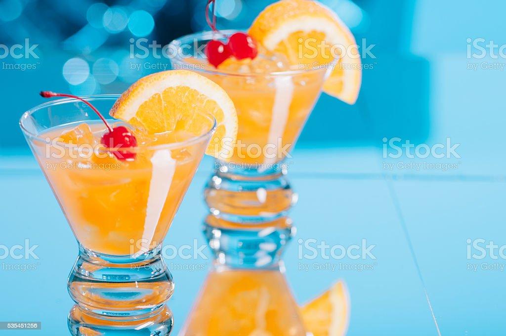 Harvey Wallbanger Cocktails stock photo