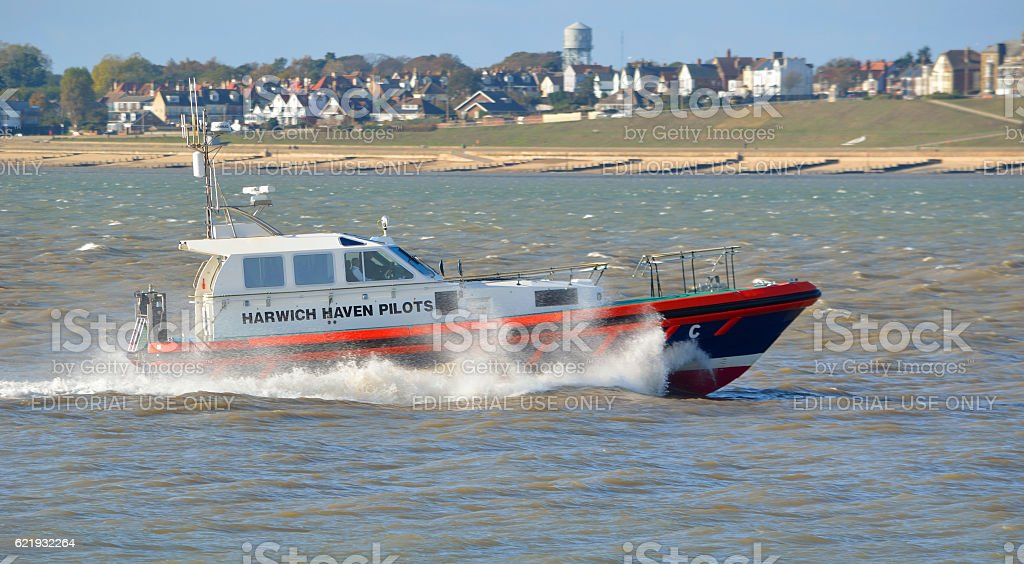 Harwich Haven Pilot Boat stock photo
