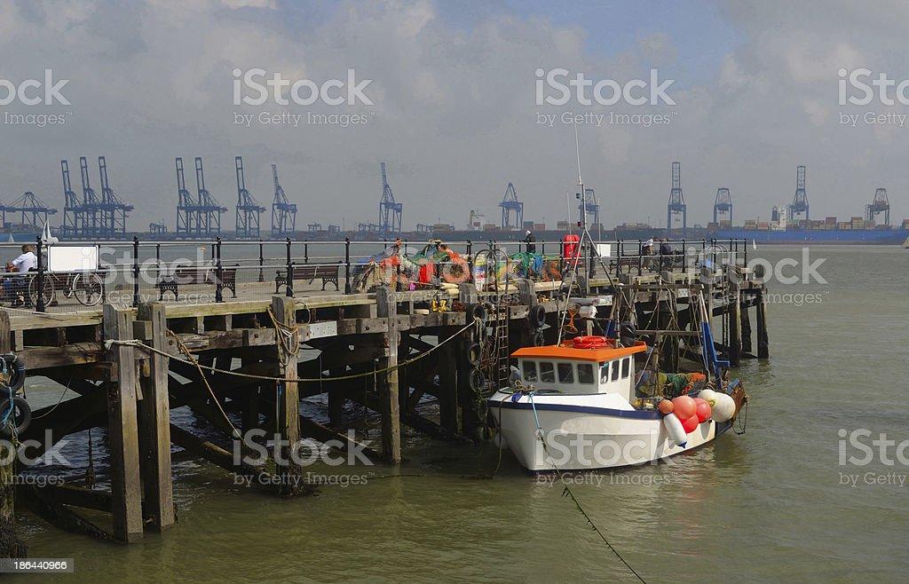 Harwich Quay stock photo