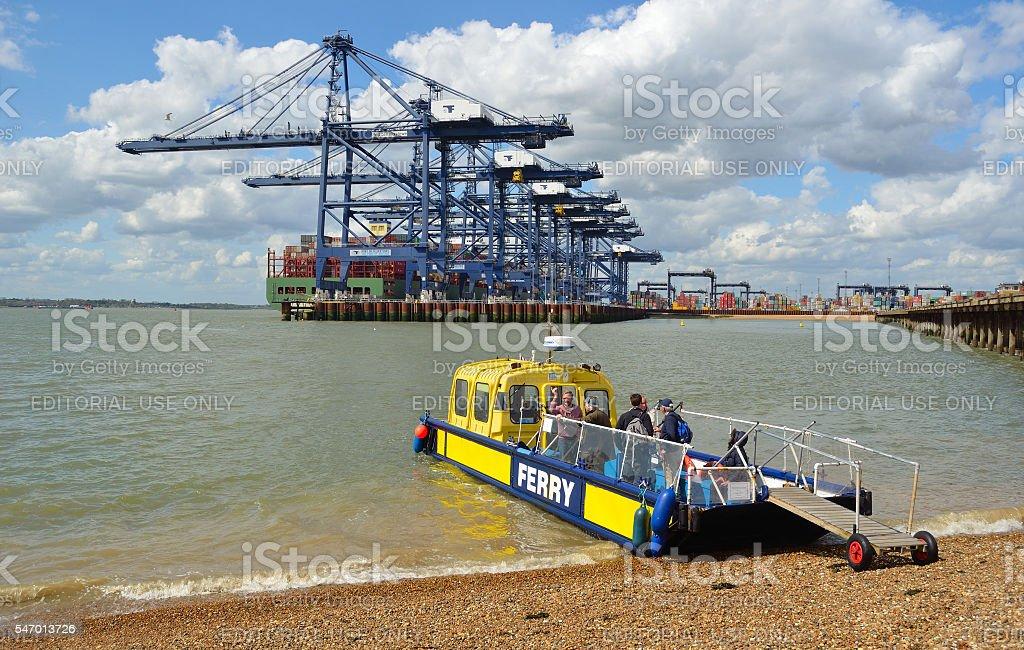 Harwich to Felixstowe and Shotley ferry stock photo