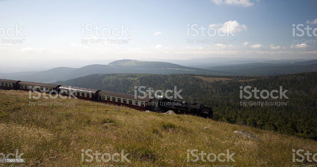Harz train landscape stock photo