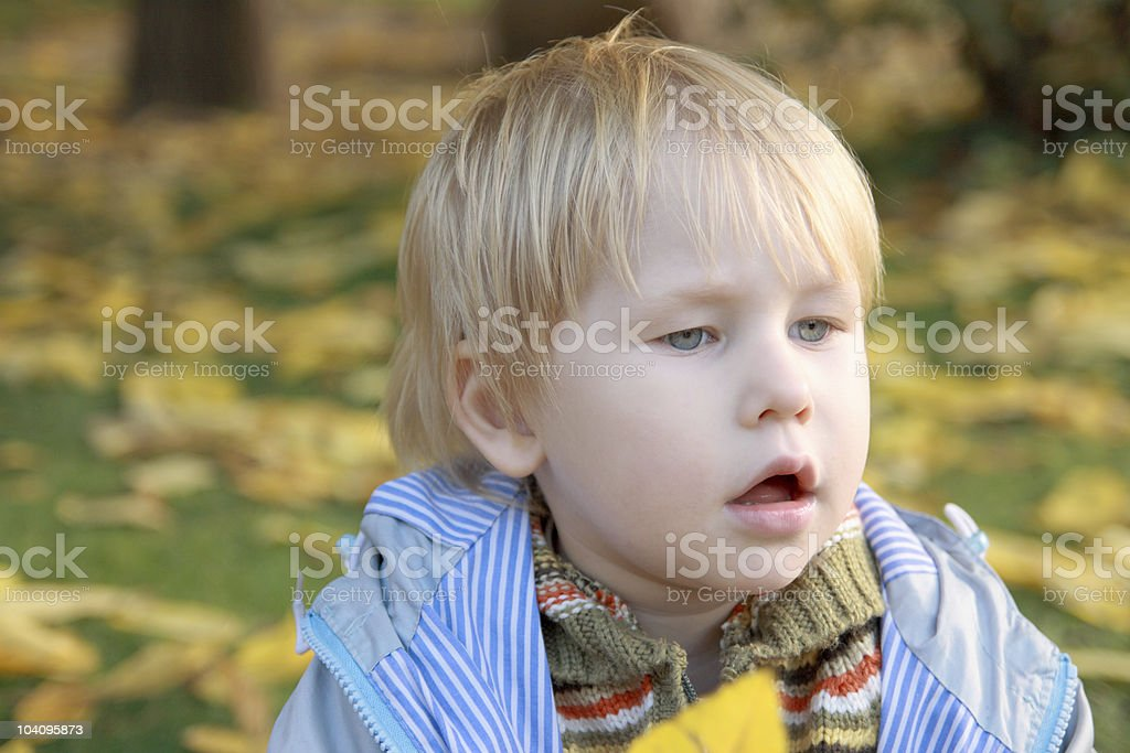 Has opened a mouth from surprise! stock photo