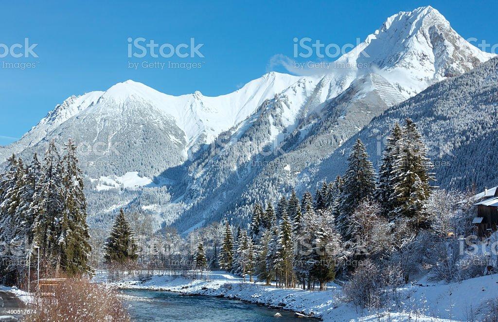 Haselgehr village outskirts (Austria, Tirol) stock photo
