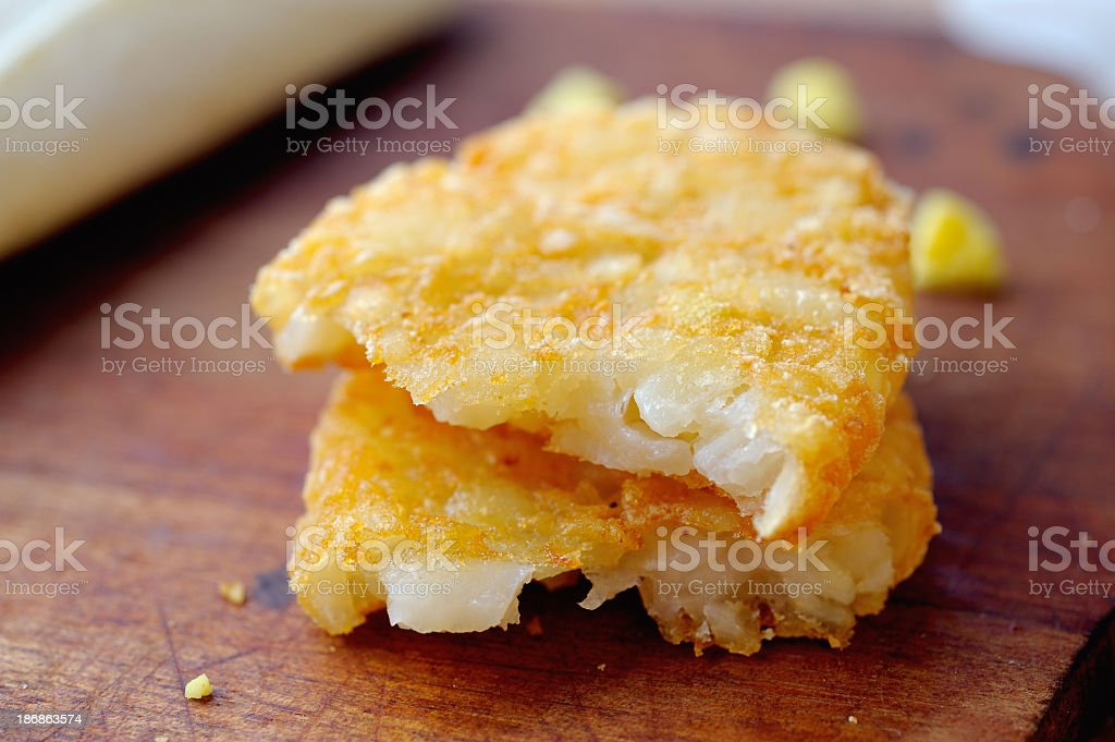 Hash brown stock photo
