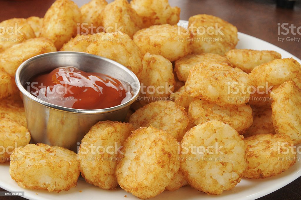 Hash brown potato cakes stock photo