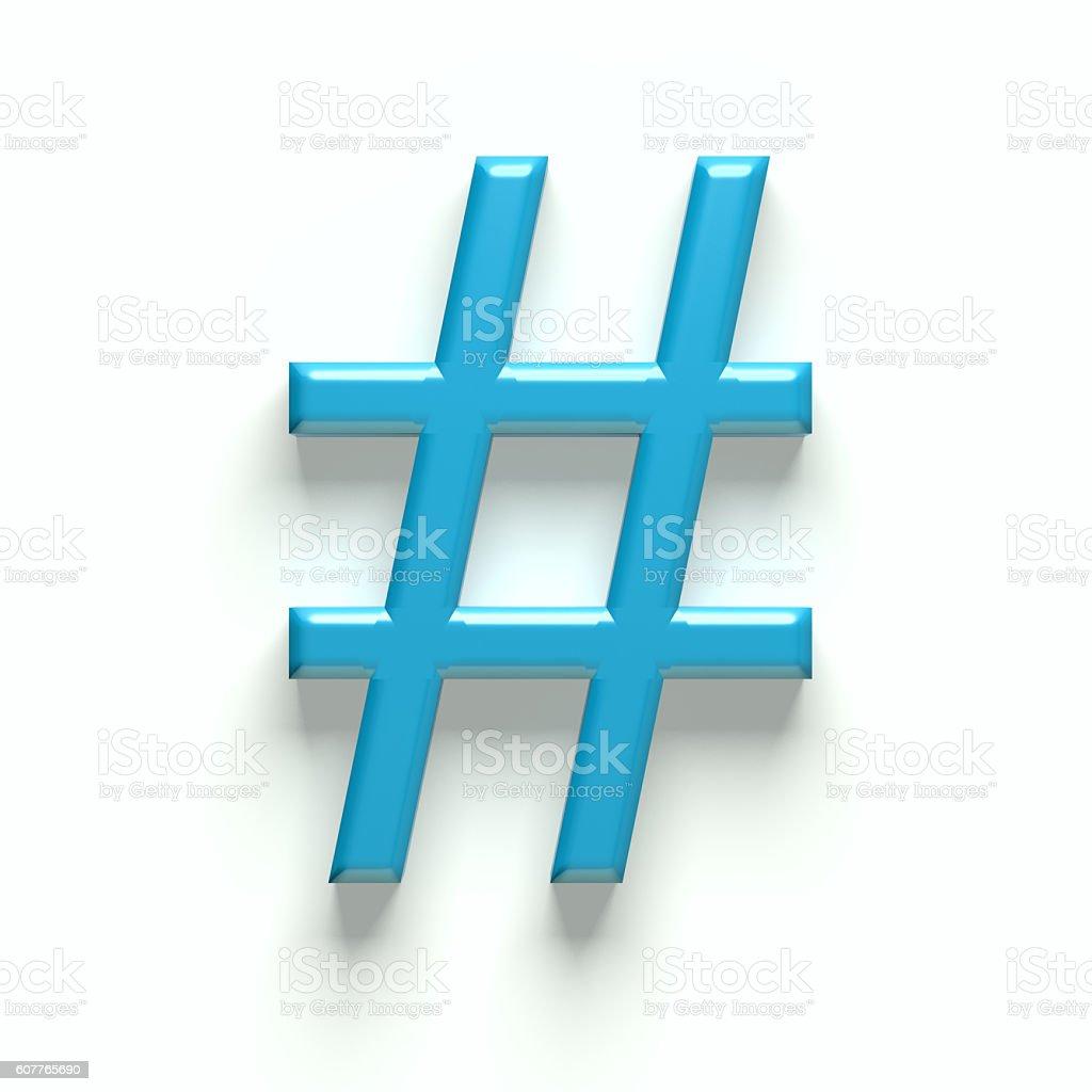 Hash Tag Symbol . 3D Graphic Illustration stock photo