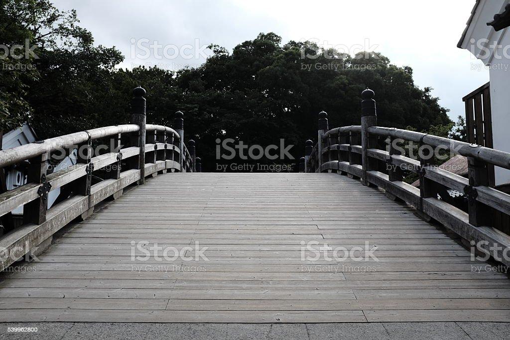Hashi; traditional bridge of Japan stock photo
