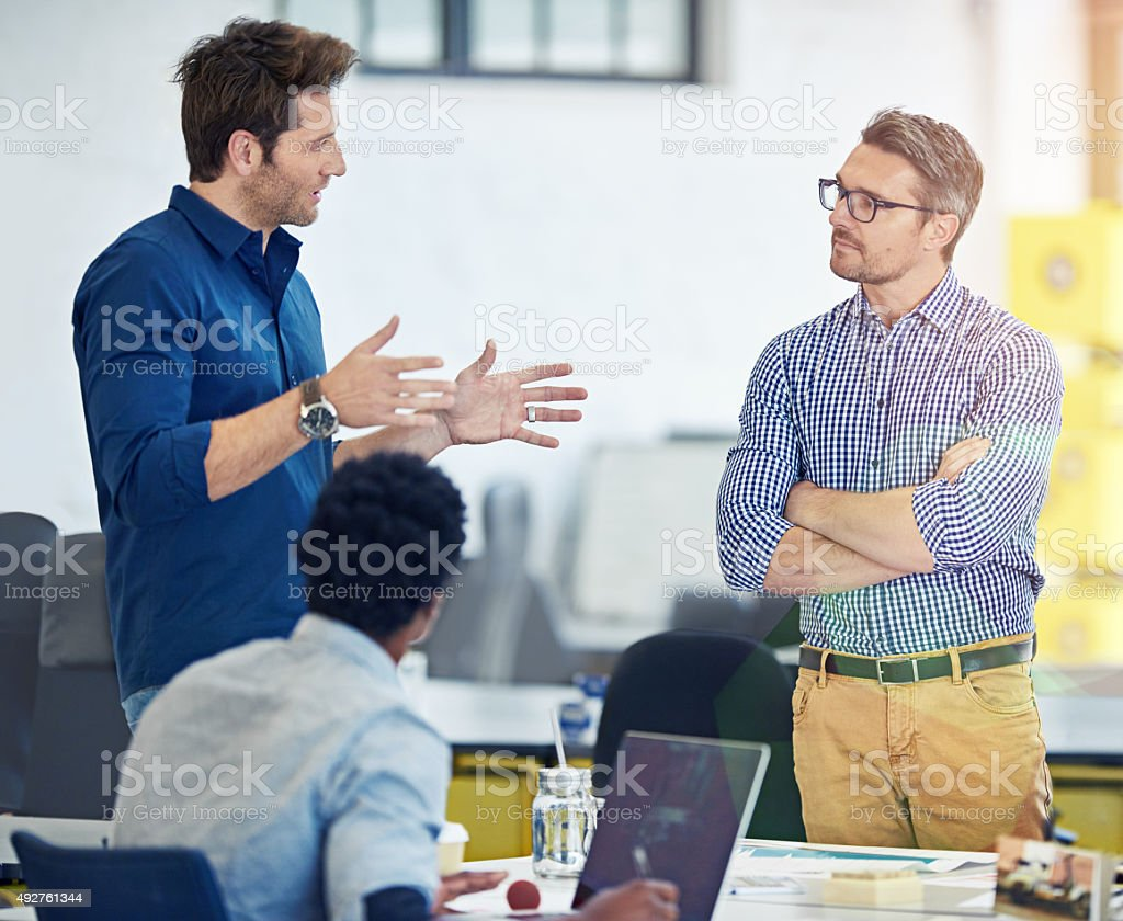 Hashing out new ideas stock photo