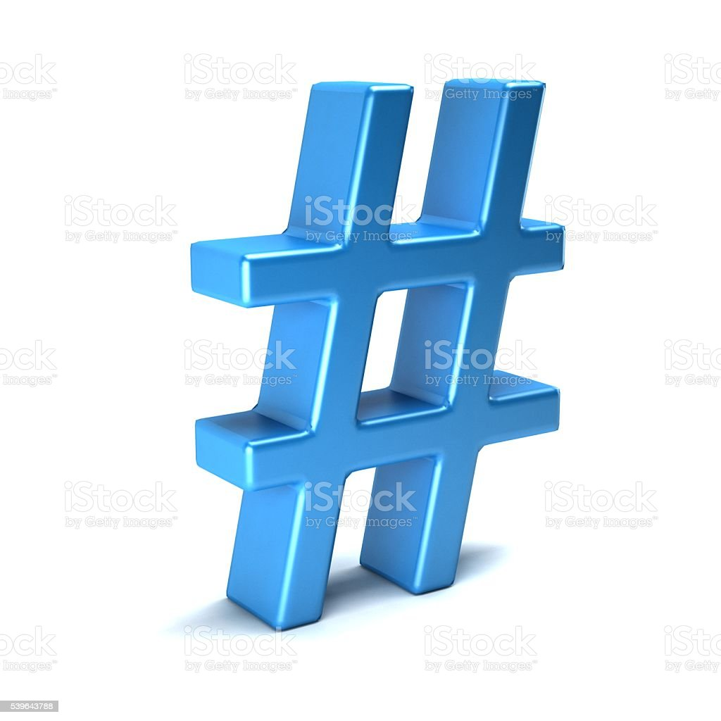 HashTag. 3D Rendering illustration stock photo