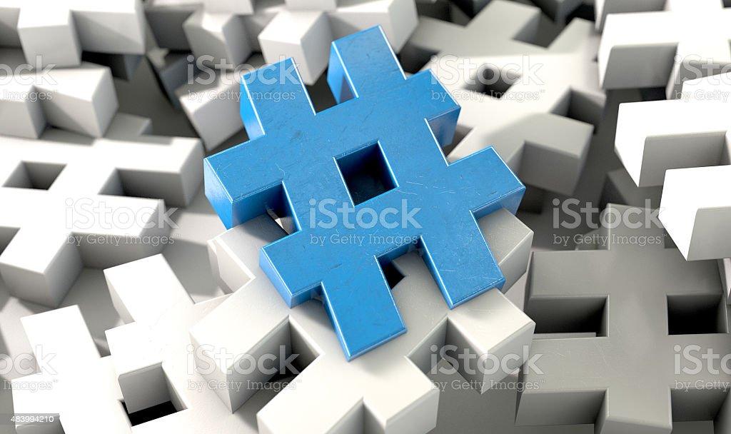 Hashtag Concept stock photo