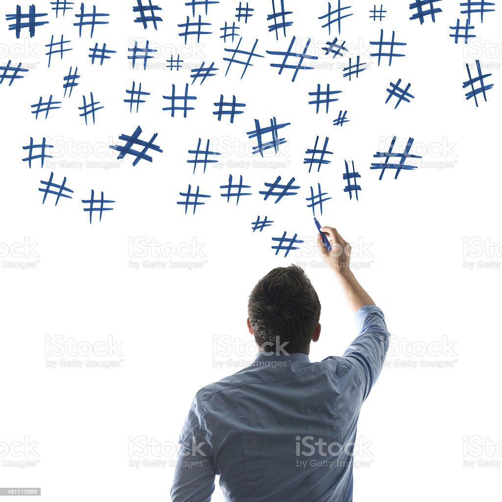 Hashtag stock photo
