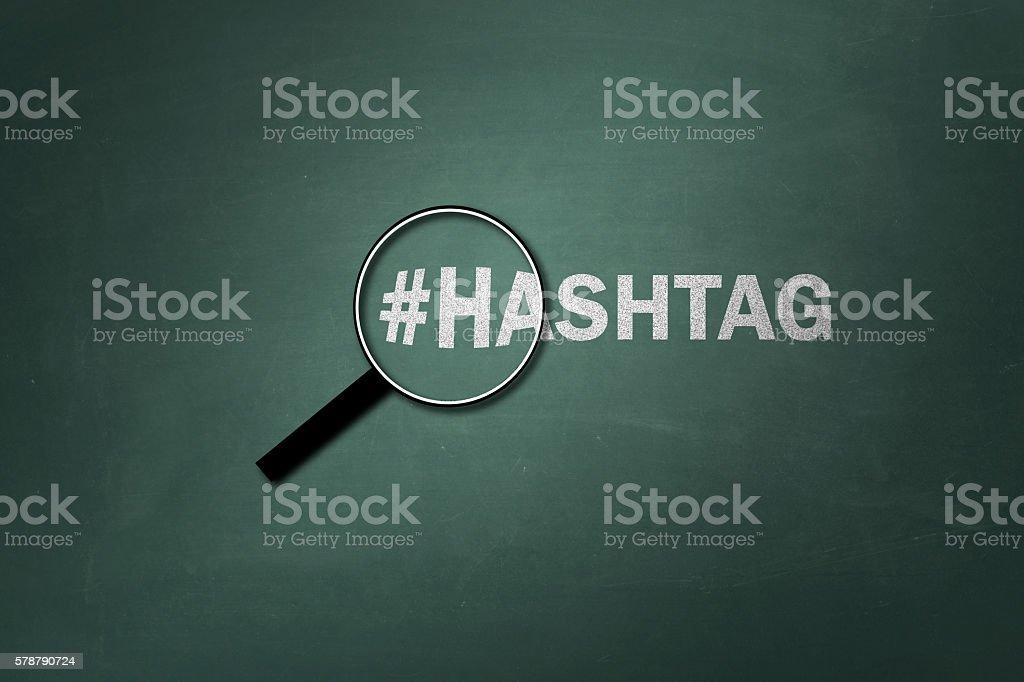Hashtag single word stock photo