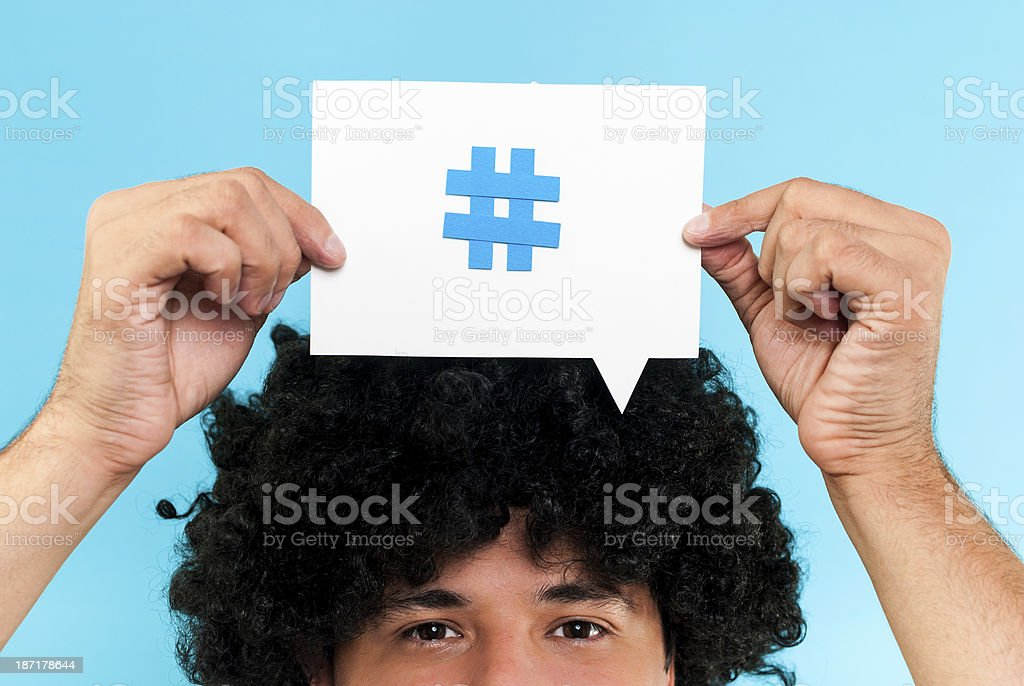 Hashtag to follow concept royalty-free stock photo