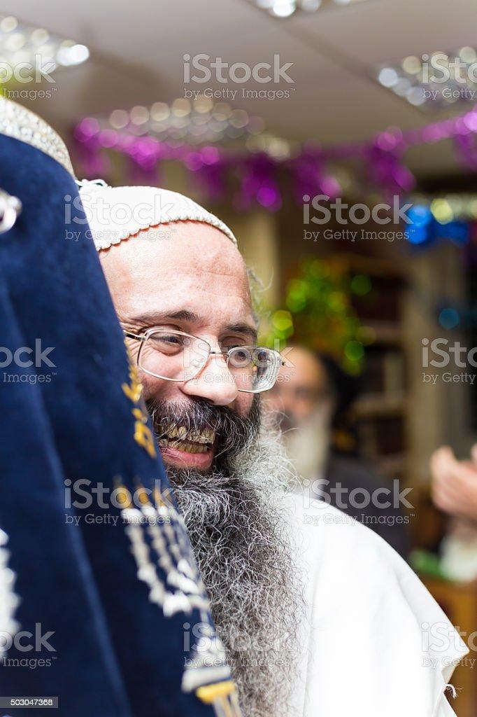 Hasidic breslev . Simchat Torah stock photo
