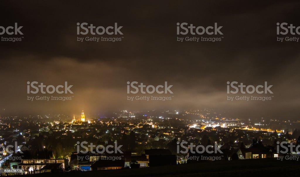 Haslach im Kinzigtal bei Nacht stock photo