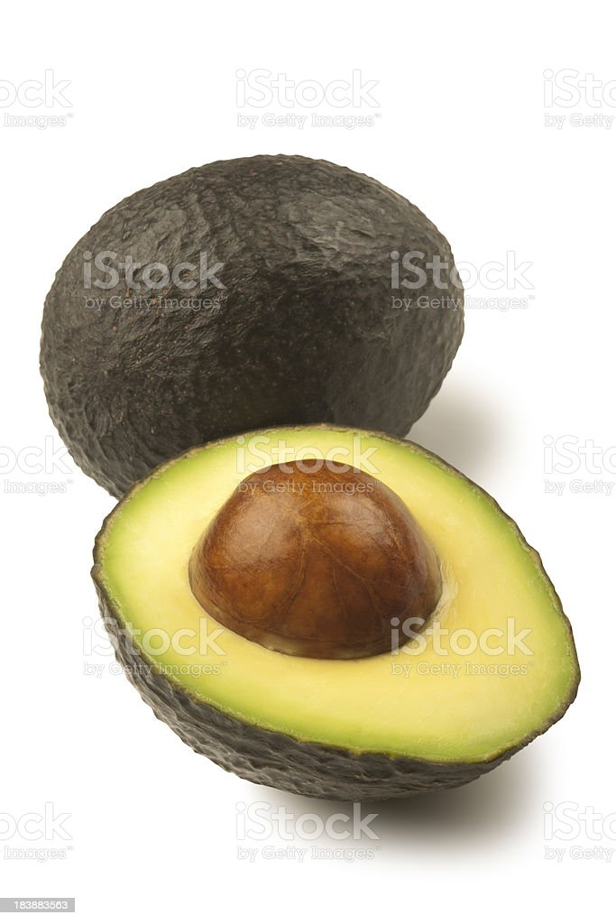 Hass Avocado with Path royalty-free stock photo
