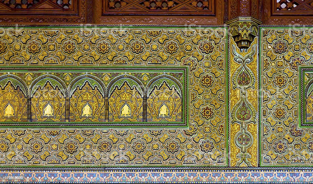 Hassan II Mosque Casablanca interior detail stock photo