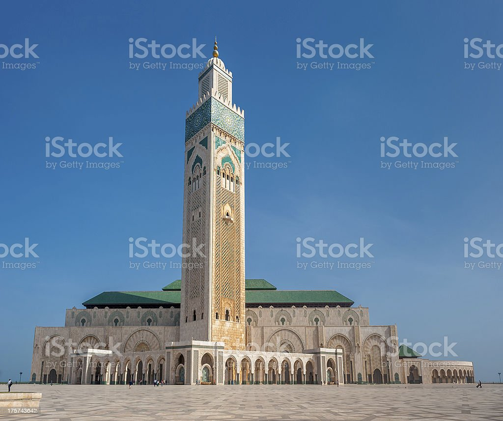 Hassan II Mosque, Casablanca. Morocco royalty-free stock photo