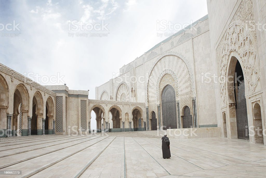Hassan II Mosque, Casablanca, Morocco royalty-free stock photo