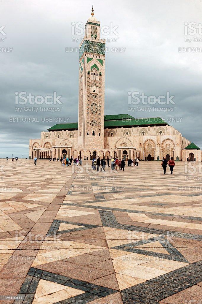 Hassan II Mosque, Casablanca Morocco,North Africa stock photo