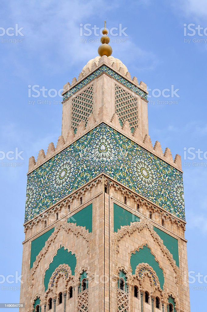 Hassan II Mosque in Casablanca, Morocco royalty-free stock photo