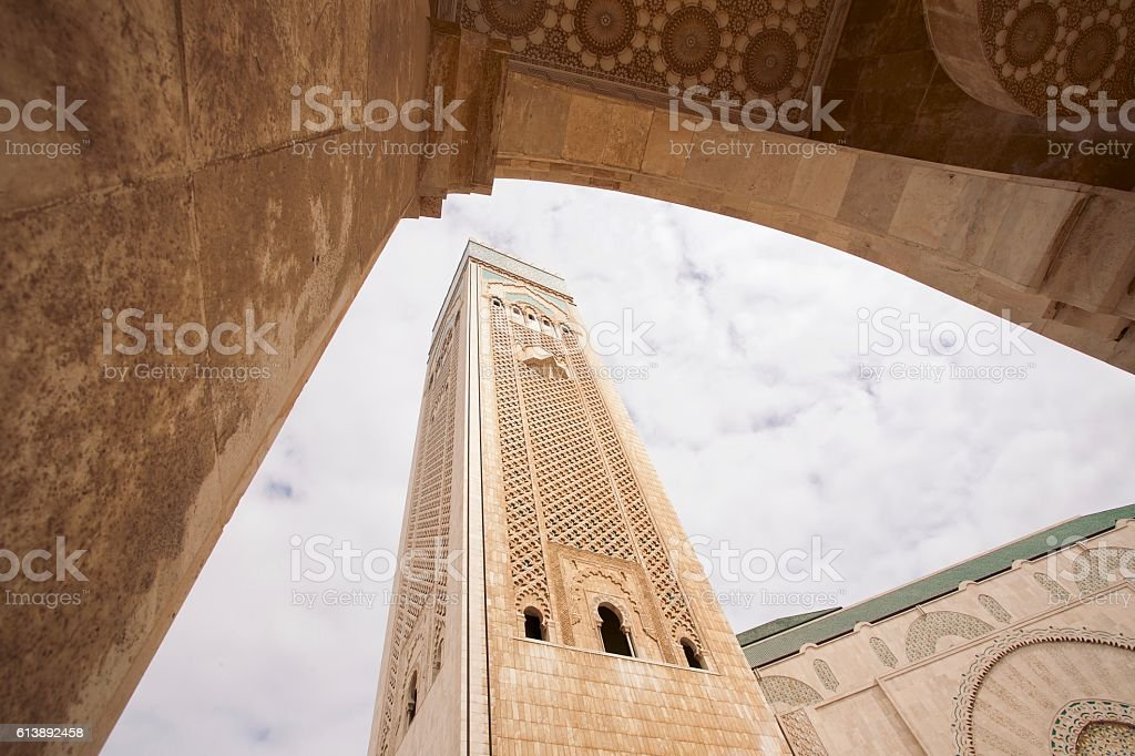 Hassan II Mosque in Casablanca, Morocco stock photo