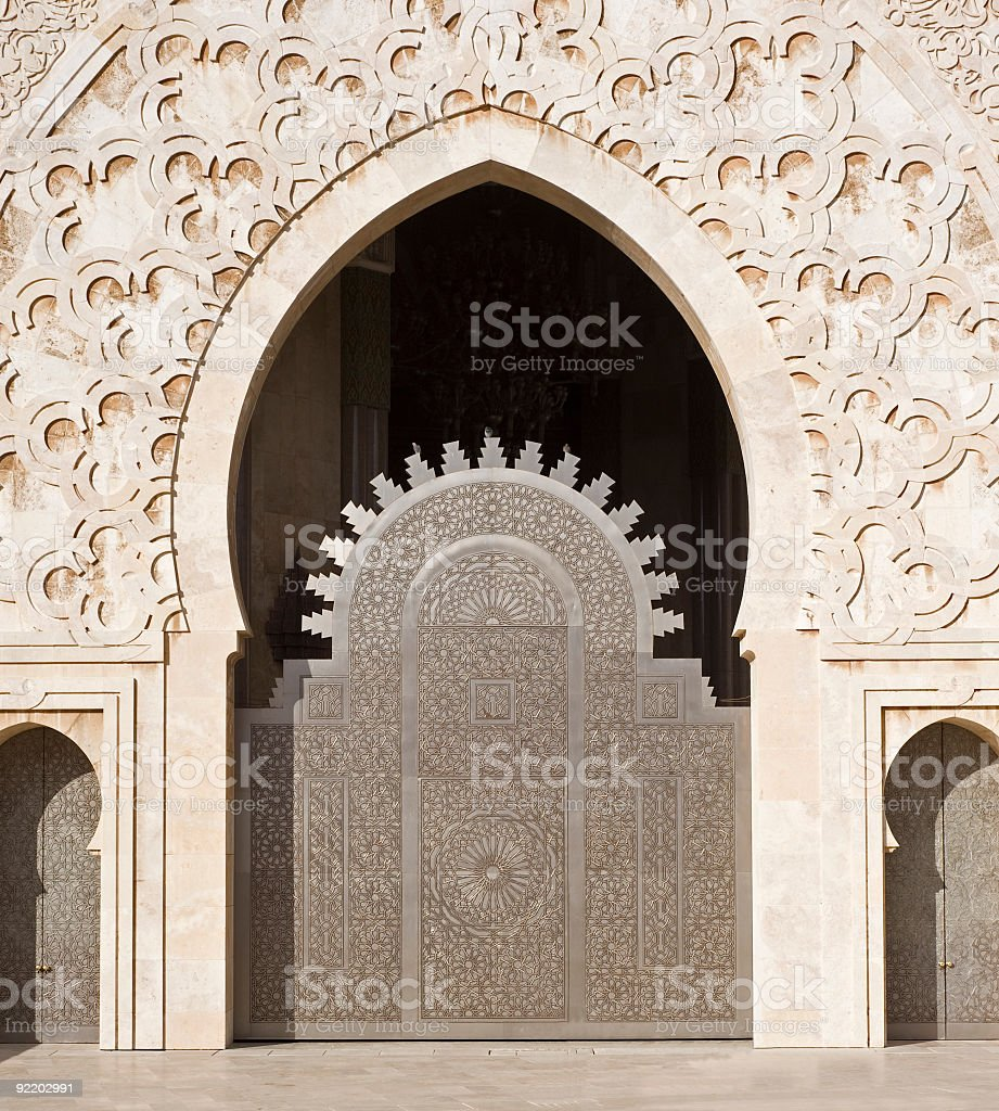 Hassan II mosque in Casablanca, Morocco royalty-free stock photo