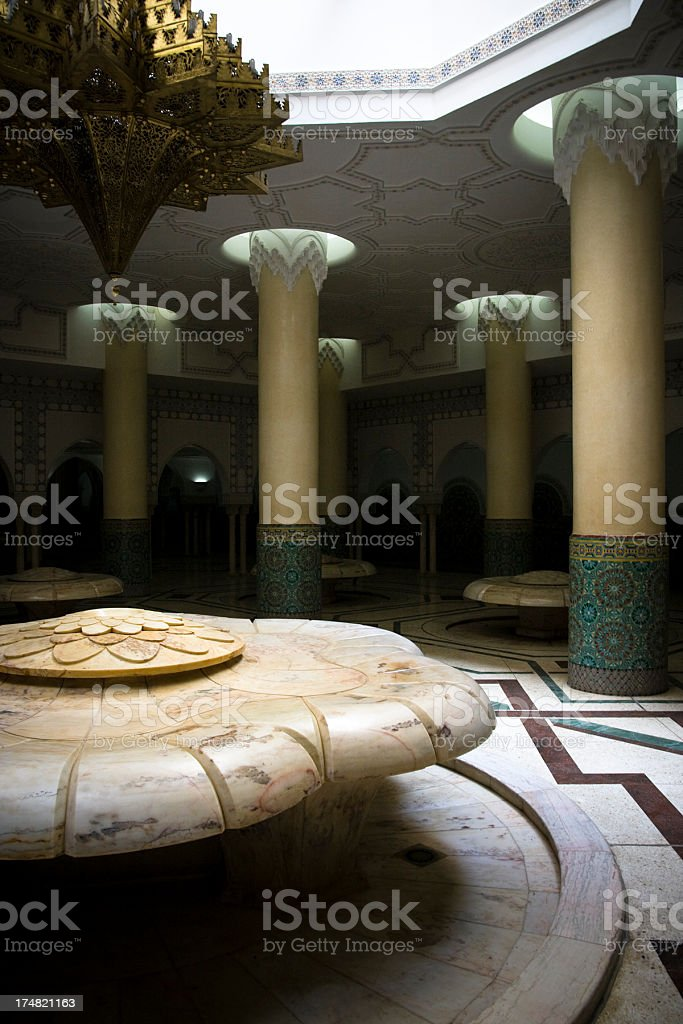 Hassan II Mosque in Casablanca royalty-free stock photo