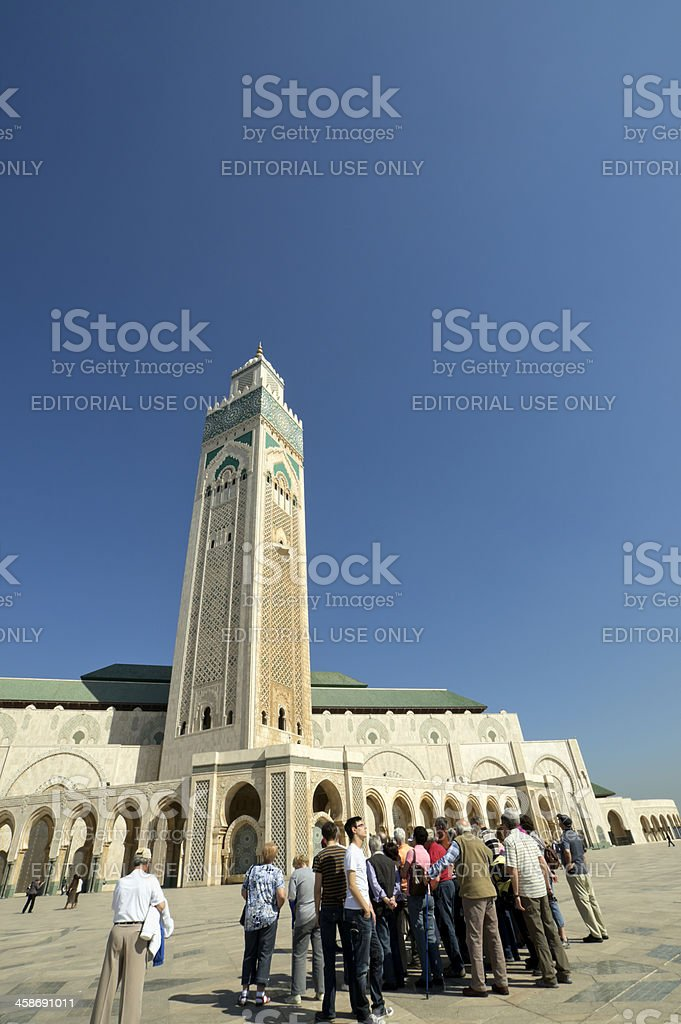 Hassan II Mosque in Morocco royalty-free stock photo