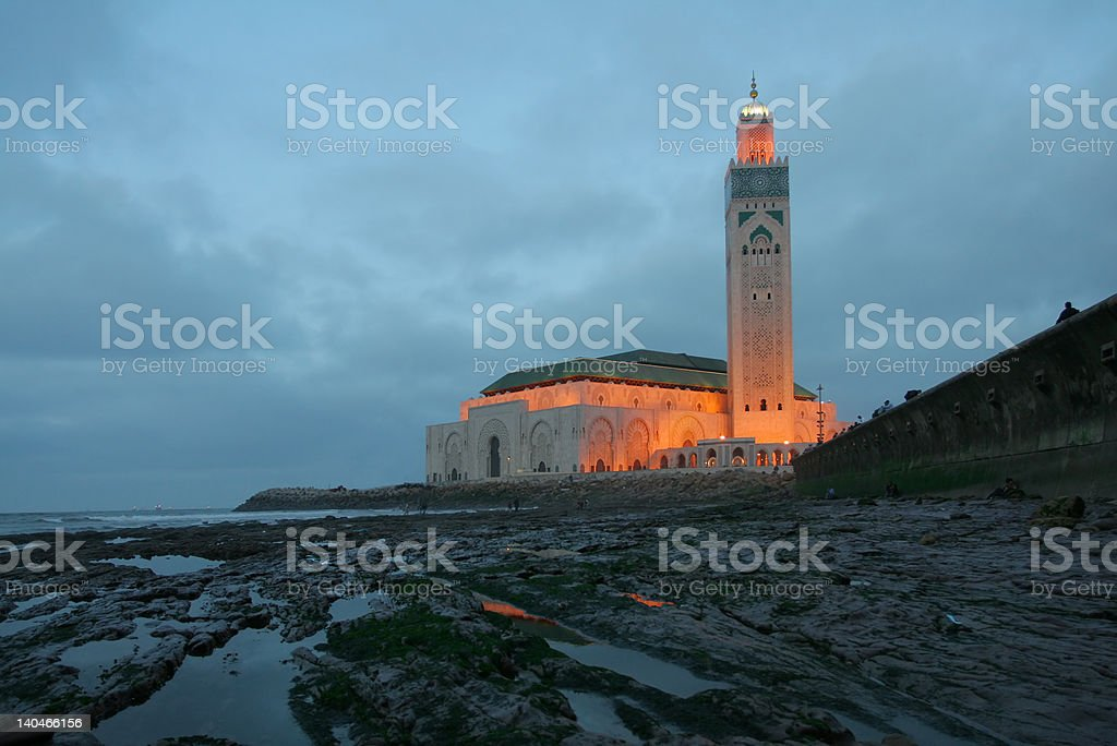 Hassan II Mosque royalty-free stock photo