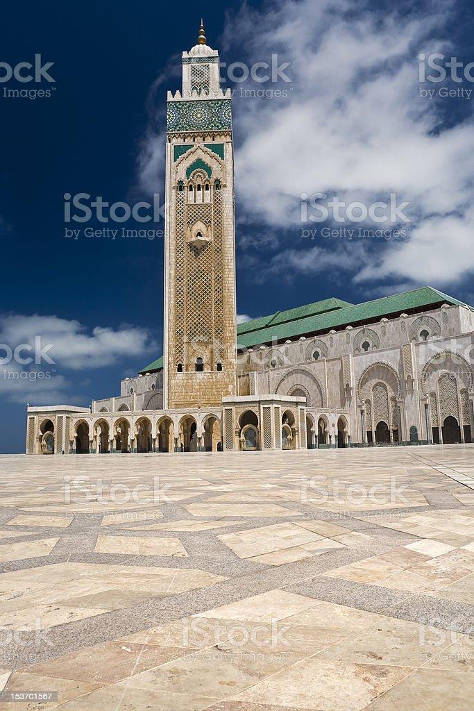 Hassan II Mosque stock photo