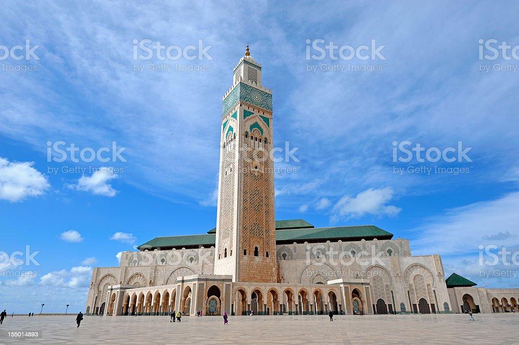 Hassan II Mosque the landmark in Casablanca stock photo