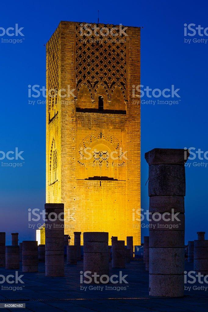 Hassan Tower, Rabat, Morocco stock photo