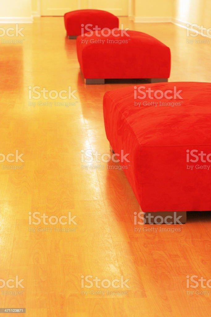 Hassock Sofa Home Decor Hardwood Floor royalty-free stock photo