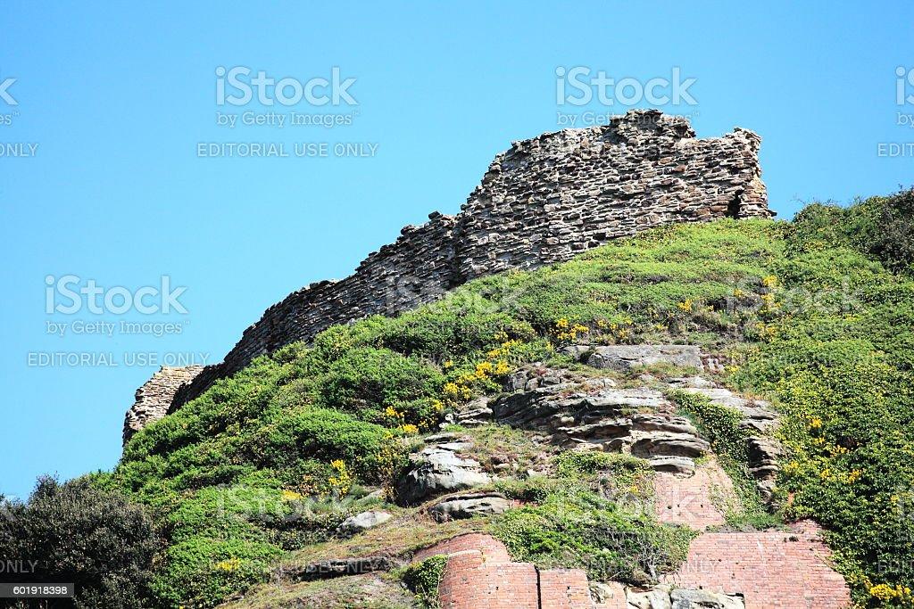 Hastings Castle stock photo