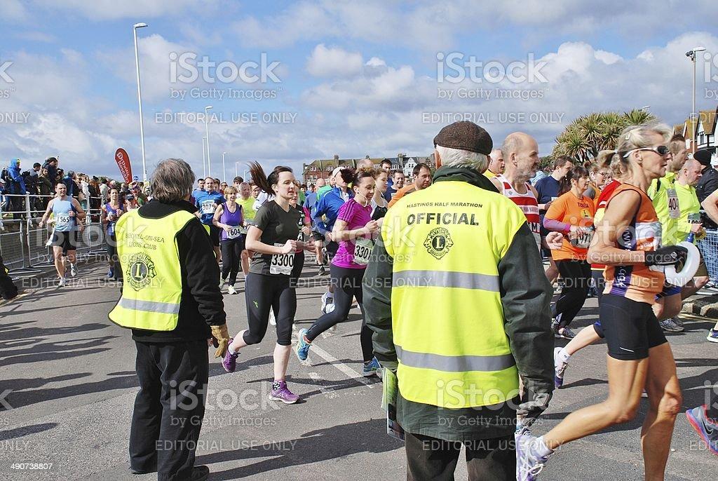 Hastings Half Marathon race royalty-free stock photo