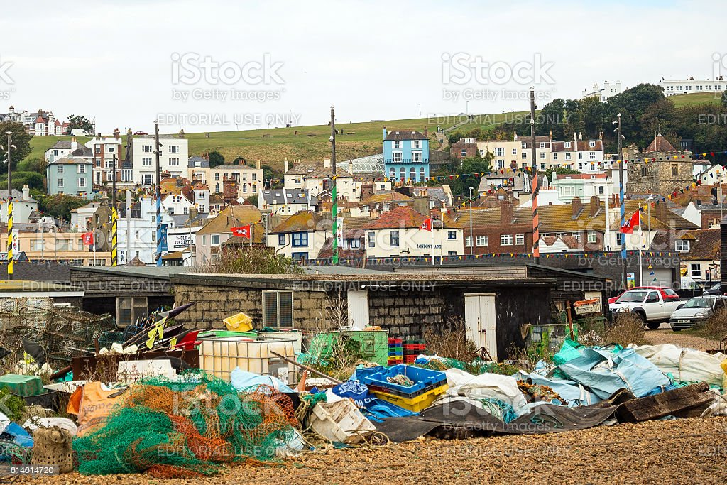 Hastings in Sussex, UK stock photo