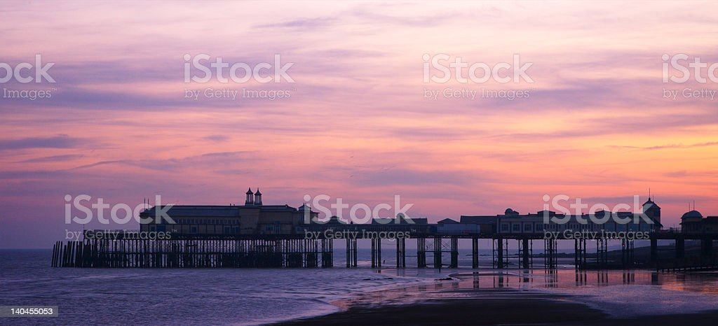 Hastings Pier at Sunset stock photo